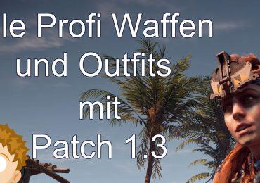HZD alle Profi Waffen und Profi Outfits & Tipps für Neues Spiel+